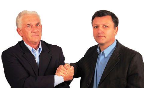 Zé Antônio (E) e Cabral foram indicados pela aliança PDT, PSDB, PMDB e DEM, em convenção para serem candidatos a prefeito e vice em Pinheiro Machado