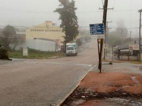 Em Candiota, a terça-feira amanheceu com nevoeiro e chuva fraca