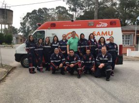 Equipe do Samu candiotense