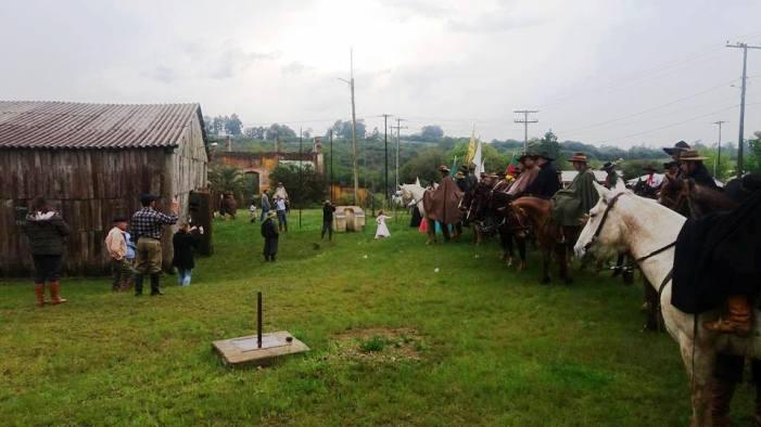 Chama trazida de Triunfo foi distribuída em Seival