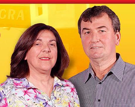 Erone e Maria Emília são candidatos a prefeito e vice pela coligação