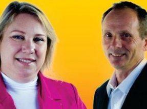 Ester e Erni são candidatos a prefeita e vice pela coligação