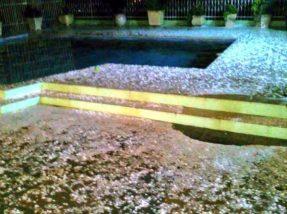 Aceguá registrou grande quantidade de granizo na noite de ontem (12)