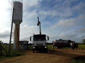 As obras iniciaram na sede do município nesta semana