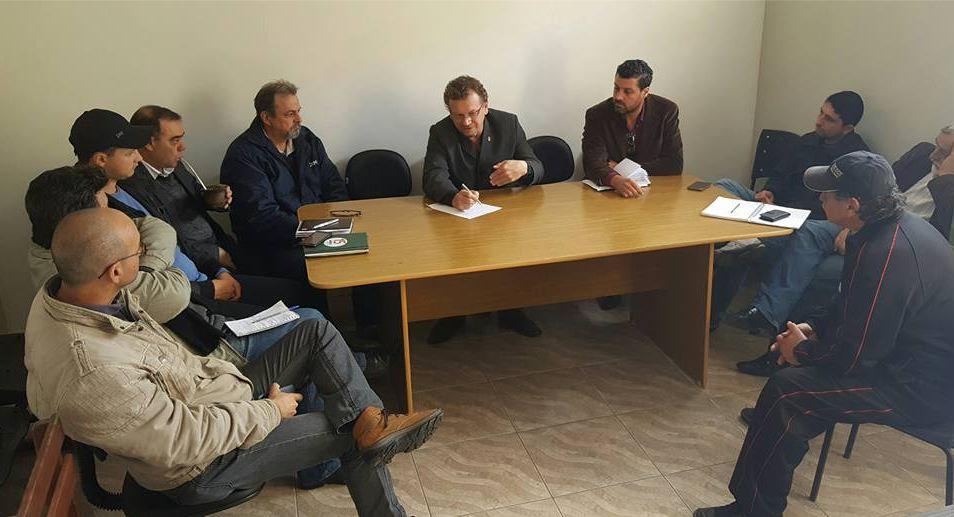 Mainardi estava acompanhado do prefeito eleito Adriano dos Santos