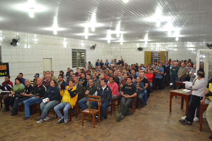 Salão de eventos do Sindicato dos Mineiros ficou lotado