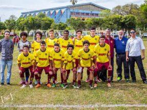 O time sub-15 venceu por 3 a 1 a Seleção de Bagé