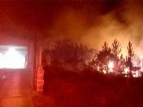 Fogo na Vila Operária foi registro próximo de uma residência