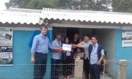 Erone com a família Câmara e a equipe da Emater na inauguração da Cozinha da Tia Zane/Sabor Gaúcho