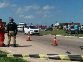 Caminhão bateu num ciclista na BR-116