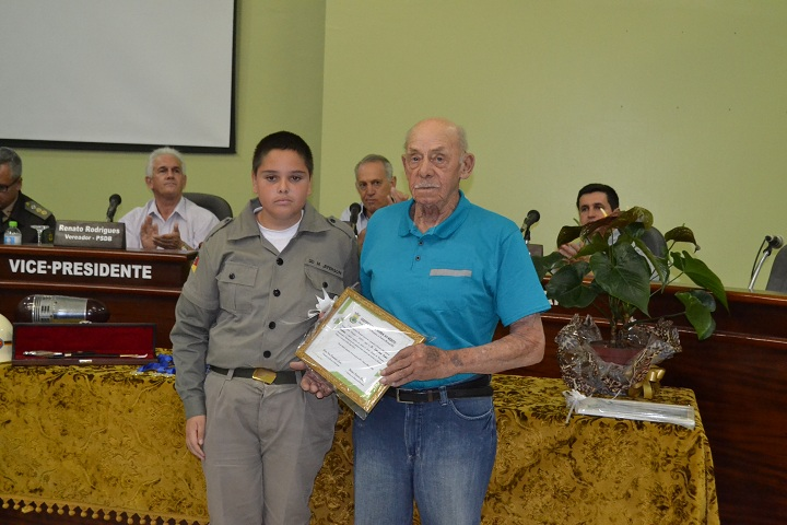 Setembrino Osório Machado também recebeu homenagem
