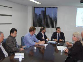 Presidente Salmo reunido com representantes dos consórcios regionais