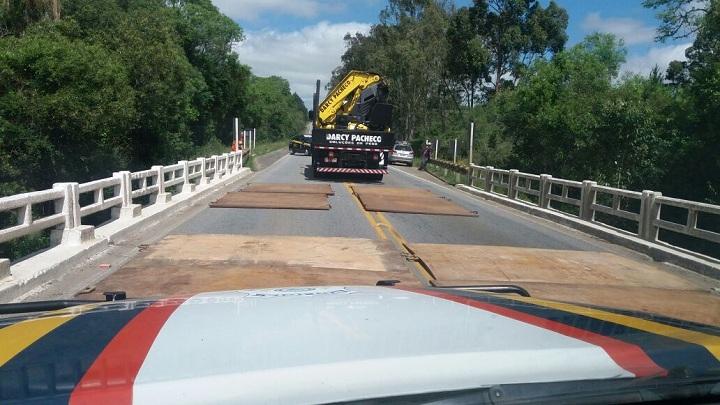 Reforço em algumas pontes foi necessário