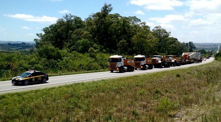 Peso combinado é considerado o maior já realizado nas rodovias federais brasileiras em toda a história