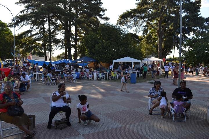 Praça recebeu ótimo público durante a festa