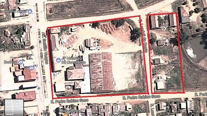 Leilão se refere a área circulada em vermelho