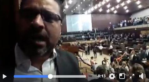 Prefeito Adriano gravou vídeo nas galerias,  comemorando a não votação