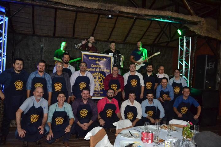 Rotarianos candiotenses comemoram mais um evento de sucesso realizado