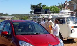 Veículos foram abençoados através do bispo Dom Gílio e do Frei Rinaldo