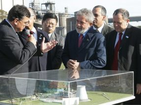 Em setembro de 2006, Lula lançou a pedra fundamental da Fase C da Usina de Candiota