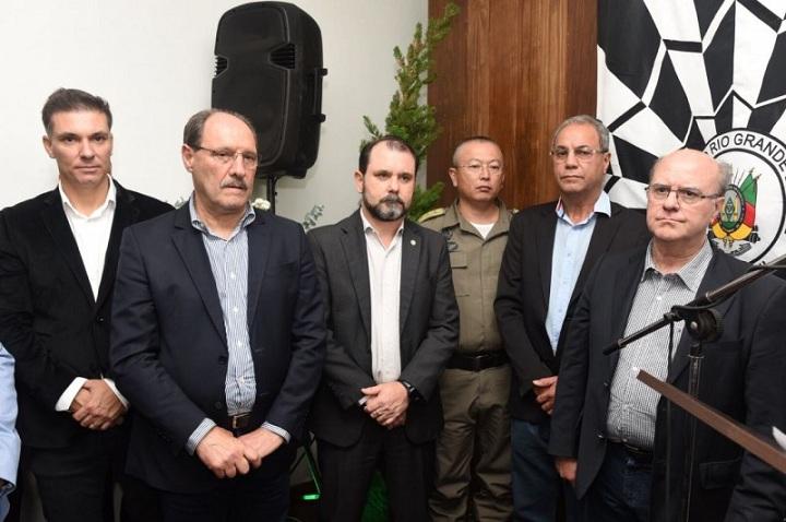 Inauguração da Decrab contou com a presença do governador Sartori e secretário Schirmer