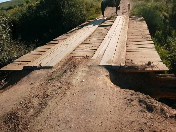 Ponte estava com problemas nas cabeceiras