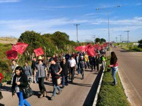 Agricultores de toda região região protestam em Canguçu