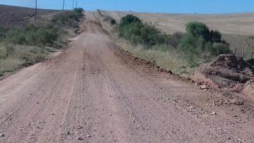 Estradas receberam camada de cascalho