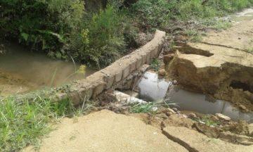 Bueiro e ponte que havia passado por manutenção no assentamento Canaã, voltou a apresentar problemas