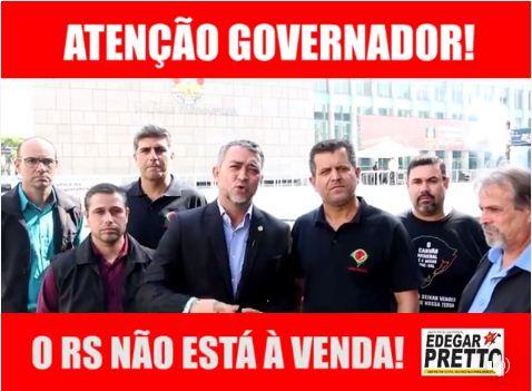 Ex-presidente da AL, deputado Edegar Pretto gravou vídeo ao lado de sindicalistas,  dente eles Vagner Pinto e Hermelindo Ferreira, ambos do Sindicato dos Mineiros