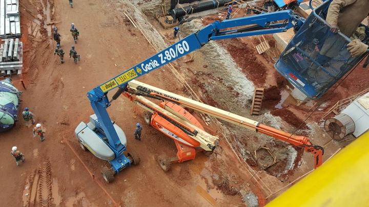 Escavações e trabalhos em andaimes foram liberados