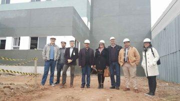 Em visita às obras do hospital escolar regional  da UFPel, o secretário de Piratini e presidente do  cosems, Diego Espíndola, ressaltou a importância da conclusão da primeira etapa das obras