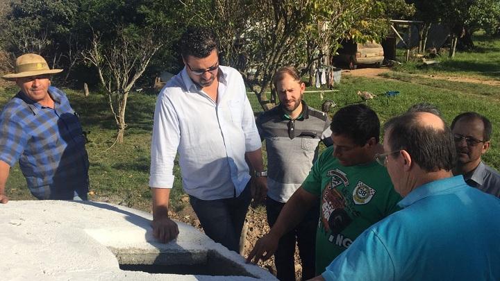 Implantação das cisternas deverá amenizar o problema de falta de água