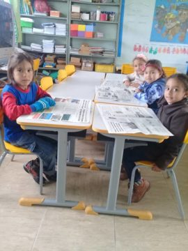 Fazem parte do Pré II alunos com 5 anos de idade