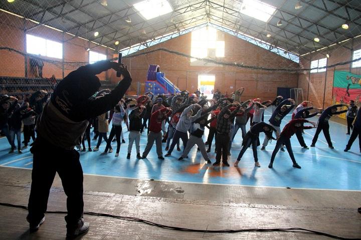 Em Candiota, atividade ocorreu no ginásio Dario Lassance
