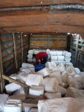 Embalagens foram coletadas com o caminhão da Aredesul