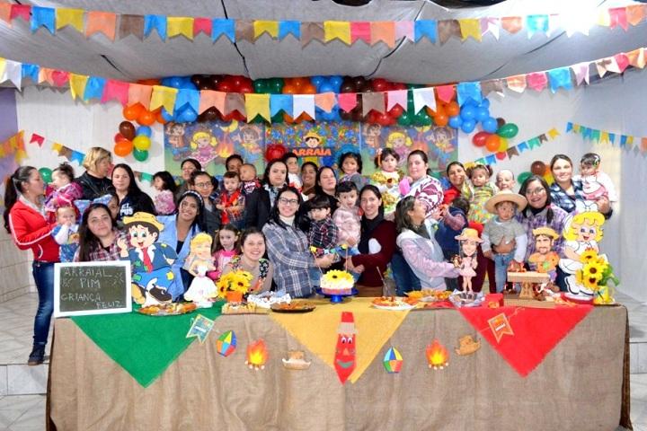 Festa reuniu as famílias do PIM e Criança Feliz