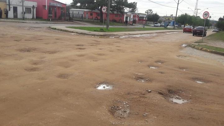 Fim do calçamento da avenida Getúlio Vargas está com via bastante comprometida