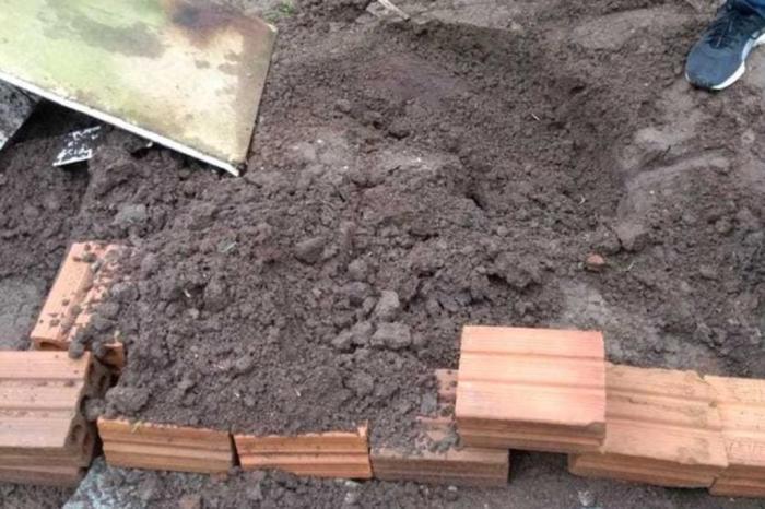 Mulher foi morta e enterrada numa cova rasa no fundo da sua casa