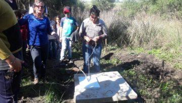 Engenheira floresta Macarena, explicou as condições da nascente e como deve ser cuidada